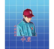 suho in blue Photographic Print