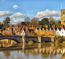 Aylesford Village and bridge by Mortimer123