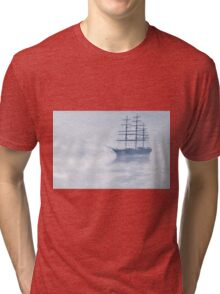 Morning Mists Cyanotype Tri-blend T-Shirt