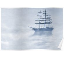 Morning Mists Cyanotype Poster