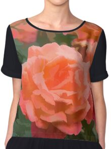 Happy, Fragrant Roses - Impressions of June Chiffon Top