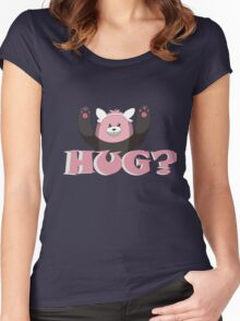 Hug for Bewear? Women's Fitted Scoop T-Shirt