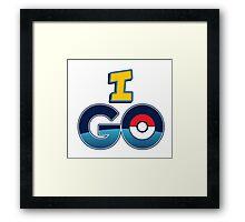 I Go For Pokemon Go Graphic Framed Print