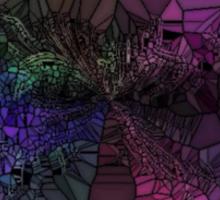 Purple Mosaic Circle Sticker
