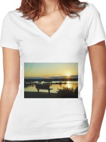 Sunrise Urunga NSW Women's Fitted V-Neck T-Shirt