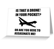 DRONE WHT Greeting Card