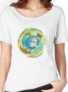 Not Quite Earth Abstract Map Women's Relaxed Fit T-Shirt