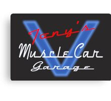 Tony's Muscle Car Garage Canvas Print