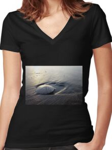 Sand Dollar Women's Fitted V-Neck T-Shirt