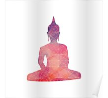 Pink Abstract Buddha Poster