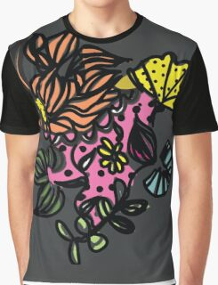 Floral line - dot and pattern Graphic T-Shirt