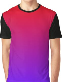 Red To Violet Gradient Graphic T-Shirt