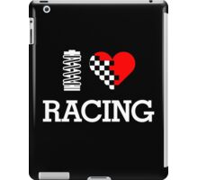I Love RACING (2) iPad Case/Skin