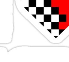 I Love RACING (2) Sticker