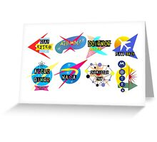 Space Age Signs Greeting Card
