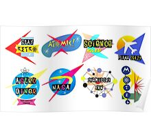 Space Age Signs Poster