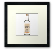 Liquid Happiness in a Bottle Vodka Bottle - Flat Framed Print