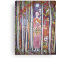 """""""Flower Picking  in  the moonlight"""" Canvas Print"""