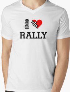 I Love RALLY (1) Mens V-Neck T-Shirt