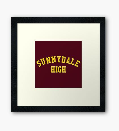 sunnydale high school sweatshirt Framed Print