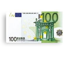 One Hundred Euro Bill Canvas Print