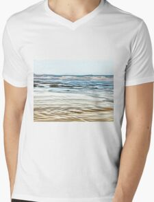 Abstract Waves on the beach in late afternoon Mens V-Neck T-Shirt