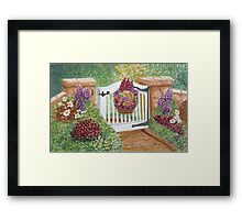 """""""WELCOME TO MY GARDEN"""" Framed Print"""