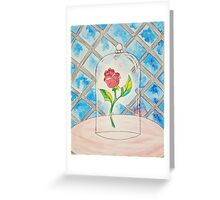Beauty and the Beast Rose Greeting Card