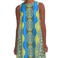 Peacock Patterns A-Line Dress
