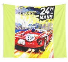 """""""MANS"""" Vintage Grand Prix Auto Race Print Wall Tapestry"""