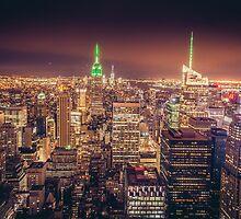 Manhattan Skyline at Dusk by kotchenography
