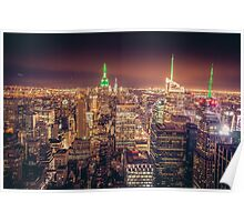 Manhattan Skyline at Dusk Poster