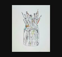 Watercolor Paintbrushes in a jar Unisex T-Shirt