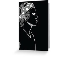 HARRY STYLES OUTLINE Greeting Card