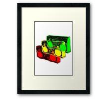 Ghetto Blasta Design Framed Print