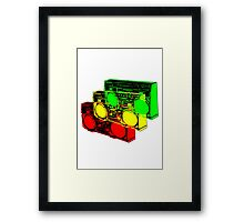 Ghetto Blasta Design Framed Print