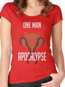 I'm a one man apocalypse Women's Fitted Scoop T-Shirt