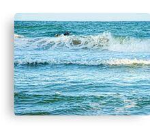 Enjoying the surf in summer Canvas Print