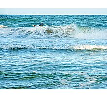 Enjoying the surf in summer Photographic Print