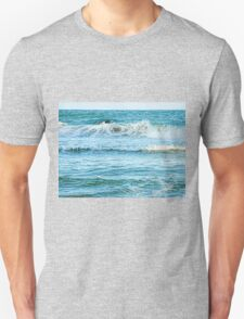 Enjoying the surf in summer Unisex T-Shirt