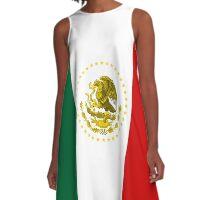 mexican flag - Clean A-Line Dress