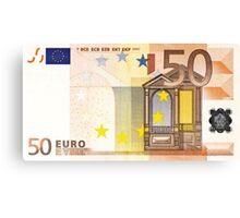 Fifty Euro Bill Canvas Print