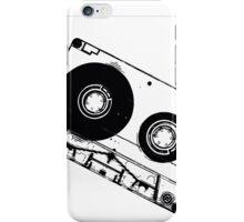 Black & White Cassette Tape iPhone Case/Skin