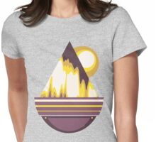 Astral Mountain Womens Fitted T-Shirt