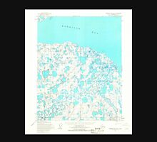 USGS TOPO Map Alaska AK Harrison Bay B-3 355882 1955 63360 Unisex T-Shirt