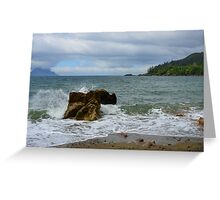 The Rock and The Ocean Greeting Card