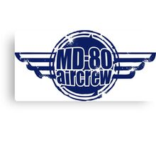 MD-80 Aircrew Canvas Print