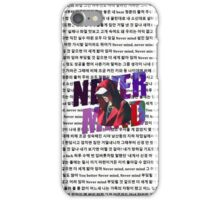 BTS Suga Nevermind  iPhone Case/Skin