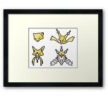 Abra's Evolution Framed Print
