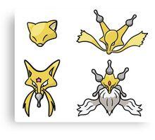 Abra's Evolution Canvas Print